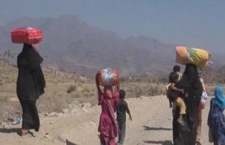 نزوح الكثير من أهالي بعض قرى محافظة  حجة  بسبب قصف الحوثيين العشوائي عليهم