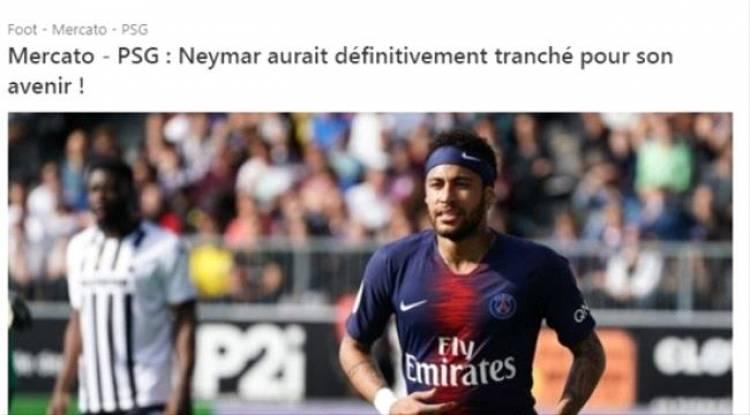 le10sport: نيمار حسم موقفه من سان جيرمان