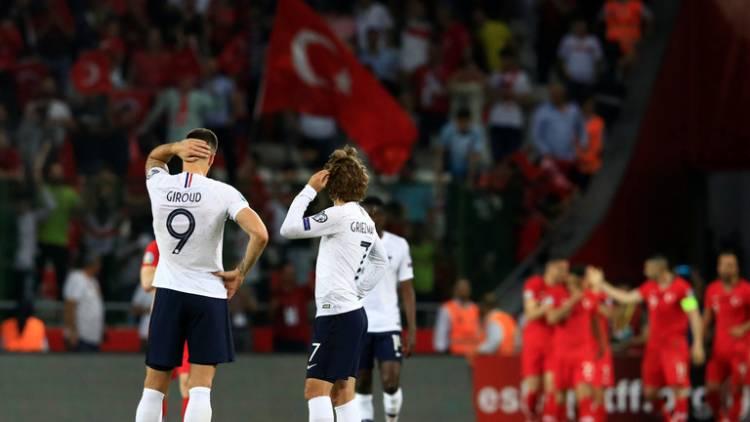 """تركيا تسقط فرنسا """"بطلة العالم"""" في تصفيات """"يورو 2020"""""""