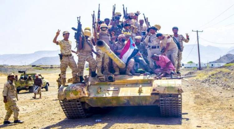 غارات جوية على تجمعات للميلشيات شمال الضالع ..وقوات المقاومة تتوغل في الفاخر