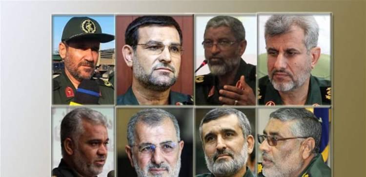 وقعها ترامب شخصياً.. من هم قادة الحرس الثوري الـ 8 الذين شملتهم العقوبات؟