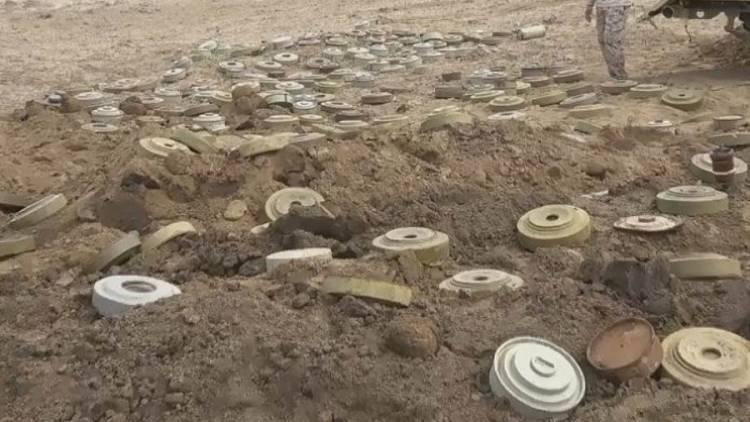 فرق المشتركة الهندسية تُفكك حقل ألغام حوثي بمدينة الحديدة