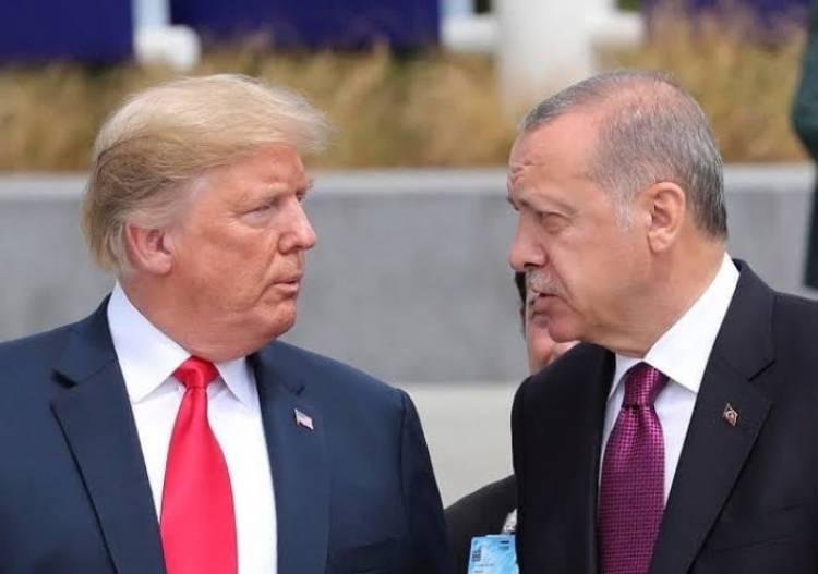 ترامب يبحث مع أردوغان الحاجة لوقف التدخل الأجنبي بليبيا