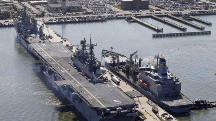 """القيادة المركزية الأمريكية تنشر فيديو للسفينة """"يو أس أس باتان"""" تبحر في خليج عدن"""