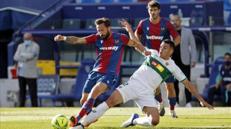 ليفانتي يواصل إهدار النقاط في الدوري الإسباني بالتعادل مع إلتشي