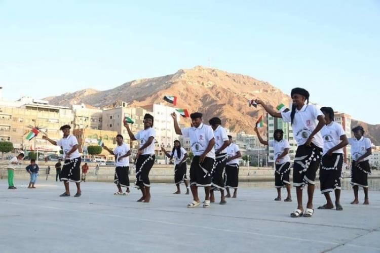 احتفال كرنفالي باليوم الوطني الإماراتي في خور المكلا