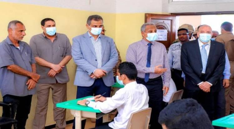 لملس يدشن امتحانات الثانوية العامة بالعاصمة عدن