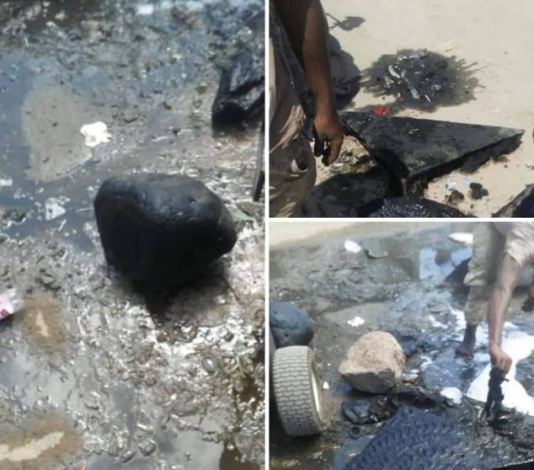 طفح مياه الصرف الصحي في حي العريش بخور مكسر... هذا هو السبب !!